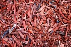 Microplaquetas de madeira vermelhas Imagens de Stock
