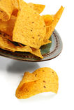 Microplaquetas de milho Imagens de Stock