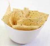 Microplaquetas de milho da salsa Fotos de Stock Royalty Free