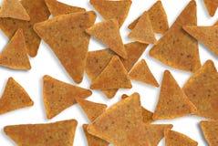 Microplaquetas de milho do Nacho Fotografia de Stock