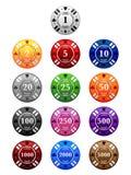 Microplaquetas de póquer Imagem de Stock