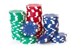 Microplaquetas de pôquer Fotos de Stock
