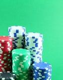 Microplaquetas de pôquer Foto de Stock
