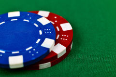 Microplaquetas de pôquer da cor Fotos de Stock Royalty Free