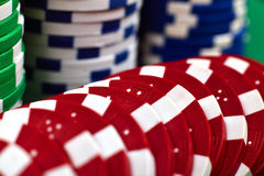 Microplaquetas de pôquer da cor Foto de Stock Royalty Free