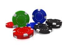 Microplaquetas de pôquer do casino Fotos de Stock Royalty Free
