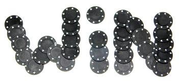 Microplaquetas de pôquer - VITÓRIA Imagem de Stock