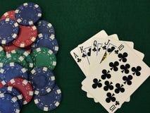Microplaquetas de pôquer X Imagem de Stock