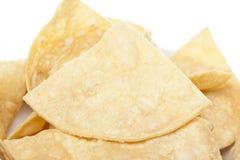 Microplaquetas de tortilla frescas do milho Fotos de Stock Royalty Free