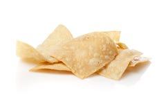Microplaquetas de tortilla frescas do milho Fotos de Stock