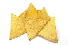 Microplaquetas de Tortilla isoladas no branco Imagem de Stock