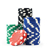 Microplaquetas do casino Fotografia de Stock Royalty Free