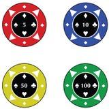 Microplaquetas do casino Foto de Stock