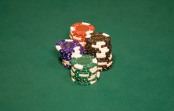 Microplaquetas do casino Foto de Stock Royalty Free