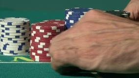 Microplaquetas do casino video estoque