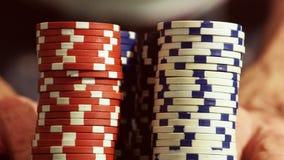 Microplaquetas do casino vídeos de arquivo