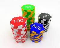 Microplaquetas do casino ilustração do vetor