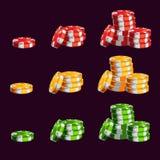 Microplaquetas do casino dos desenhos animados Imagem de Stock