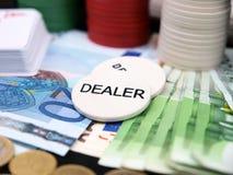 Microplaquetas do póquer Imagens de Stock