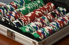Microplaquetas do póquer Imagem de Stock Royalty Free