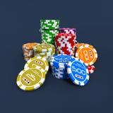 Microplaquetas do póquer ilustração do vetor