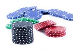Microplaquetas do póquer. Imagens de Stock Royalty Free