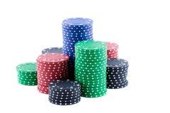 Microplaquetas do póquer. Foto de Stock Royalty Free
