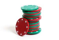 Microplaquetas do póquer Foto de Stock
