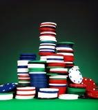 Microplaquetas de pôquer Imagem de Stock Royalty Free