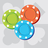 Microplaquetas do póquer Ilustração Stock