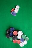 Microplaquetas do póquer foto de stock royalty free