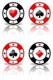 Microplaquetas do póquer ajustadas (01) Imagens de Stock