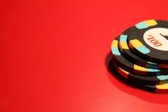Microplaquetas do póquer do casino Imagens de Stock