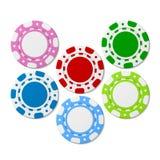 Microplaquetas do póquer. Vetor. Fotografia de Stock