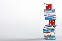 Microplaquetas dos dados e do casino Imagem de Stock Royalty Free