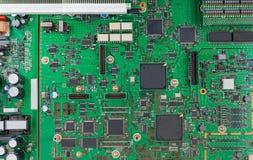 Microplaquetas e componentes com placa de circuito eletrônico Imagens de Stock