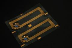 Microplaquetas e etiquetas do RFID Fotografia de Stock