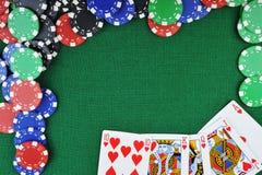 Microplaquetas para gamblings e cartões imagem de stock royalty free