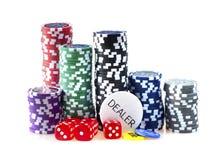 Microplaquetas para o póquer imagens de stock royalty free