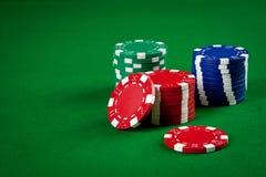 Microplaquetas para o póquer Fotos de Stock