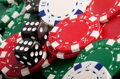 Microplaquetas para o pôquer Fotos de Stock Royalty Free