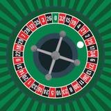 Microplaquetas & roleta do póquer Imagem de Stock Royalty Free