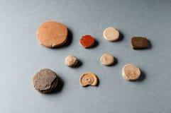 Microplaquetas romanas do jogo Imagens de Stock Royalty Free