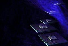 Microplaquetas sobre o fundo abstrato Imagens de Stock