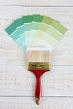 Microplaquetas verticais de GreenColor da escova de pintura Imagem de Stock Royalty Free