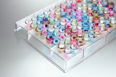 Microplate in colors Royalty Free Stock Image