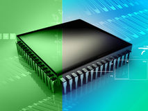 Microprocesador stock de ilustración