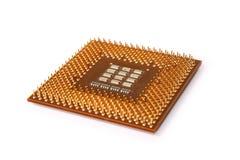 Microprocesador de la CPU Imágenes de archivo libres de regalías