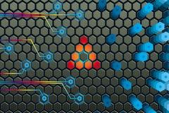 Microprocesador electrónico adentro ilustración del vector