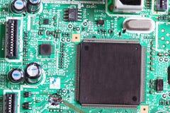 Microprocesador electrónico a bordo Fotos de archivo libres de regalías